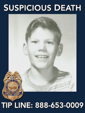 "Robert ""Bobby"" Bizup was 10 years old at the time he went missing in August 1958, just outside Rocky Mountain National Park. His remains were found within park boundaries in 1959. The NPS Investigative Services Branch has opened an investigation."