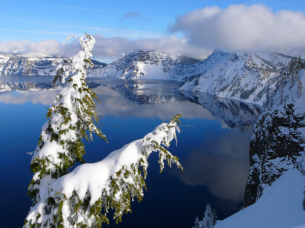 Crater Lake National Park in winter. NPS photo.
