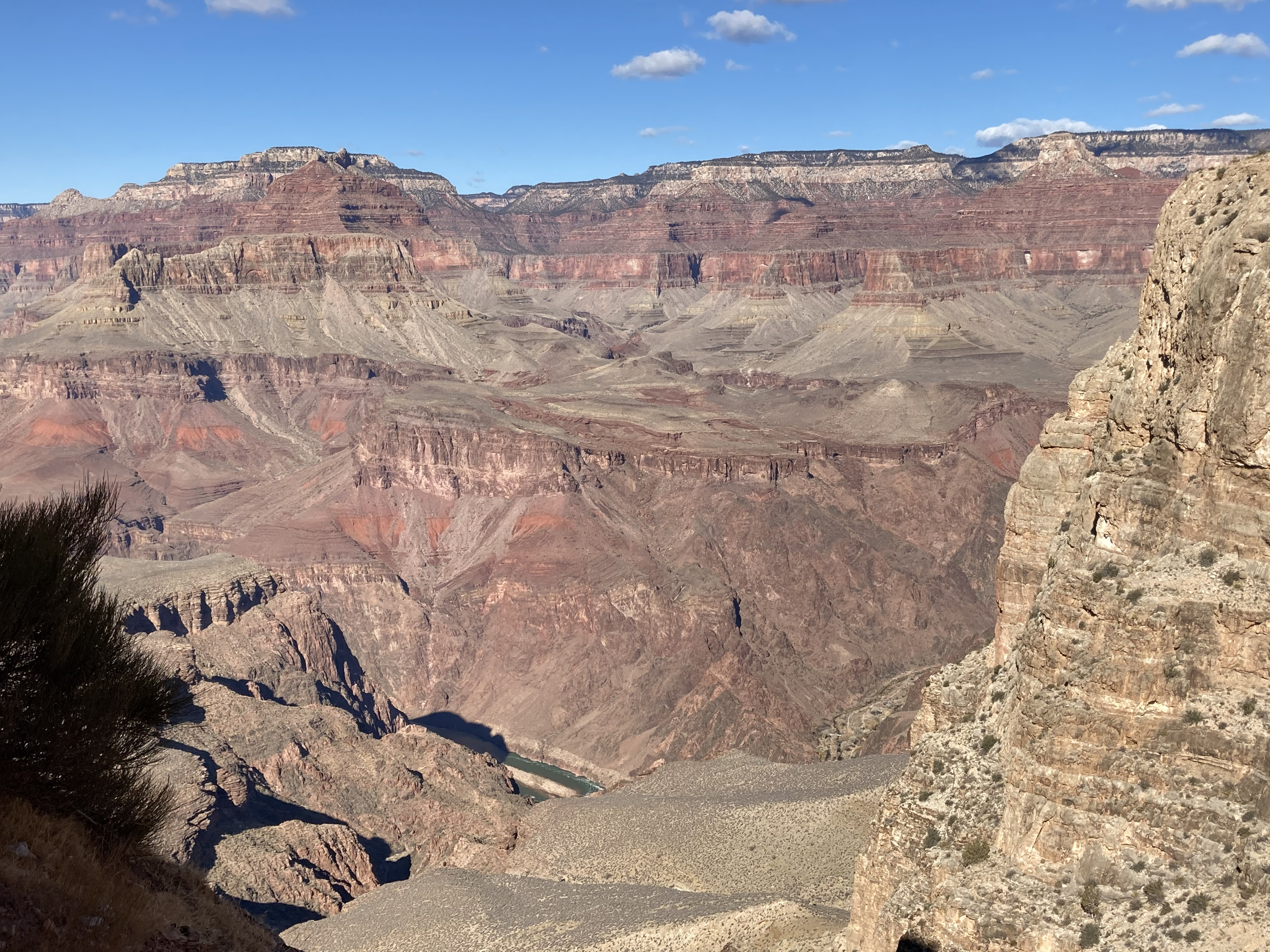 A view of the Colorado River from the South Kaibab Trail in Grand Canyon National Park. NPS photo.