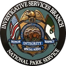 The logo of the NPS Investigative Services Branch.