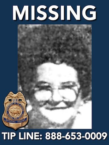 "Missing person: Thelma Pauline ""Polly"" Melton"