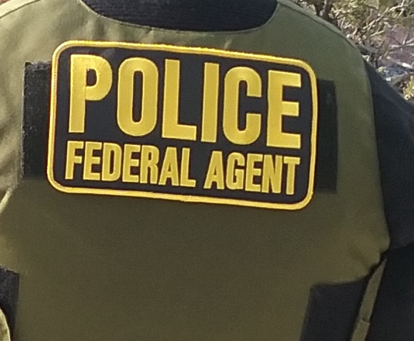 ISB Special Agents wear patches to clearly identify them as federal officers on scene. NPS photo by the Investigative Services Branch.