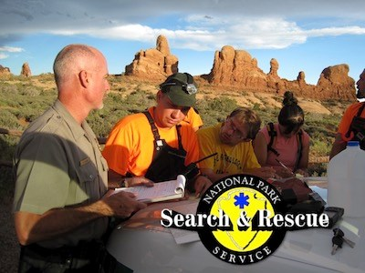 National Park Service search-and-rescue (SAR) responders.