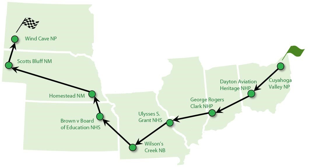2016 American Solar Challenge Route