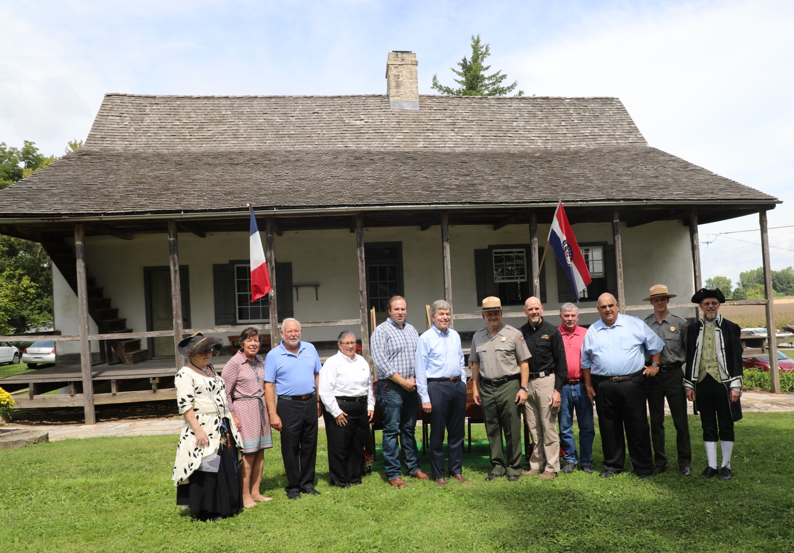 Gathering at the Beauvais-Amoreux House to sign the agreements between the National Park Service and partners.