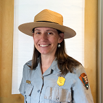 A woman in ranger flat hat and uniform