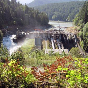 photo of demolition Elwha Dam at Olympic National Park