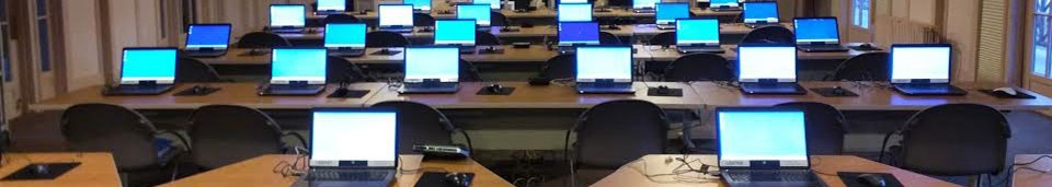 room full of computer screens