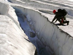 North Cascades National Park scientists monitor glaciers to determine the rate of change.