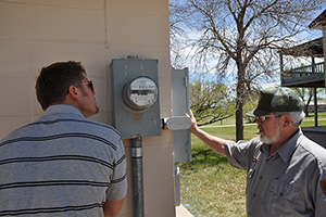 Energy meters at Fort Laramie National Historic Site