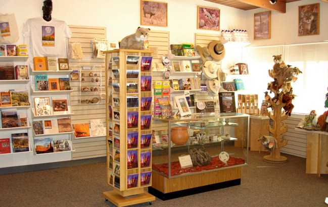 The WNPA bookstore inside the Kris Eggle Visitor Center