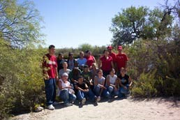 Class from Ajo Middle School at Quitobaquito Springs