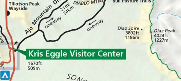 Map Depictiing Diaz Peak And Spire