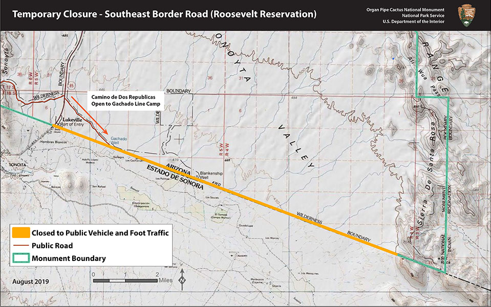 Road Closure at Southeast Border Implemented - Organ Pipe ... on arizona colorado map, arizona costa rica, arizona road map with cities, arizona indian casinos map, arizona mountain time zone map, arizona border town map, arizona valley map, arizona in the usa map, arizona mexican border map, arizona world map, arizona sonora map, arizona california map, arizona geography map, arizona los angeles map, yuma arizona map, arizona us map, arizona wine country map, arizona prehistoric map, arizona recreation map, arizona utah map,