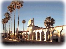 The historic plaza in the town of Ajo
