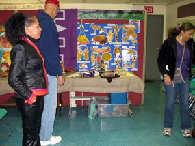 holiday cultural festival, native american display