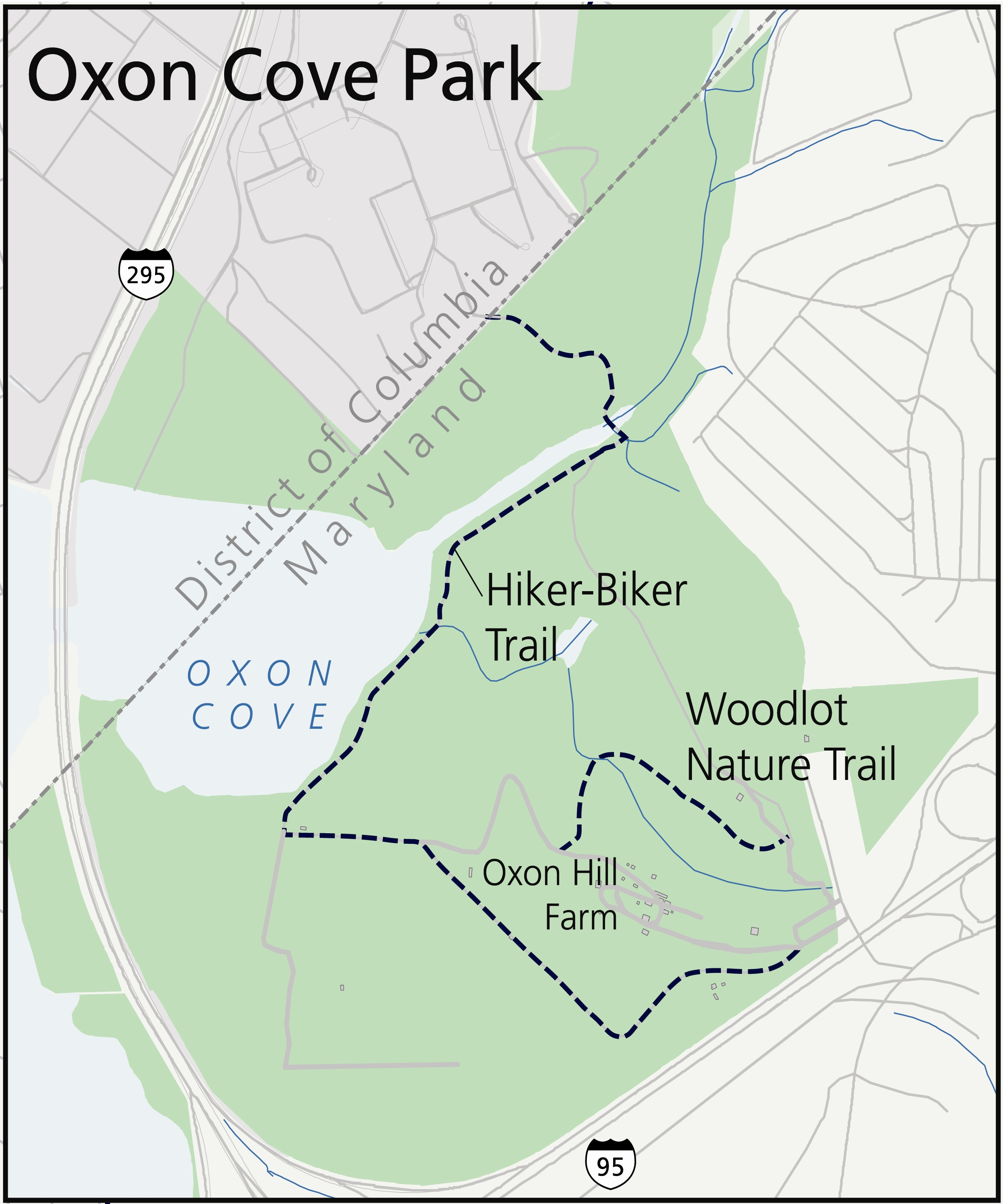 oxon hill maryland map Things To Do Oxon Cove Park Oxon Hill Farm U S National Park oxon hill maryland map
