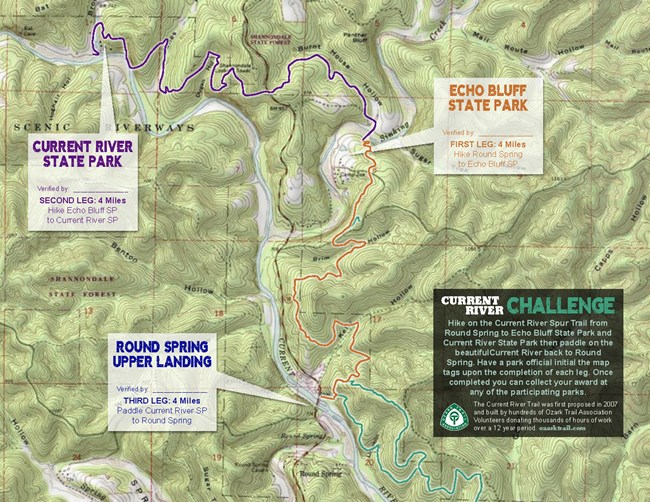 map of current river challenge
