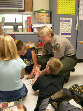 Ranger with students