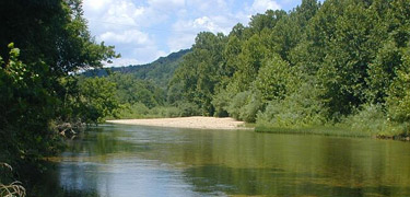 River scene on the Jacks Fork