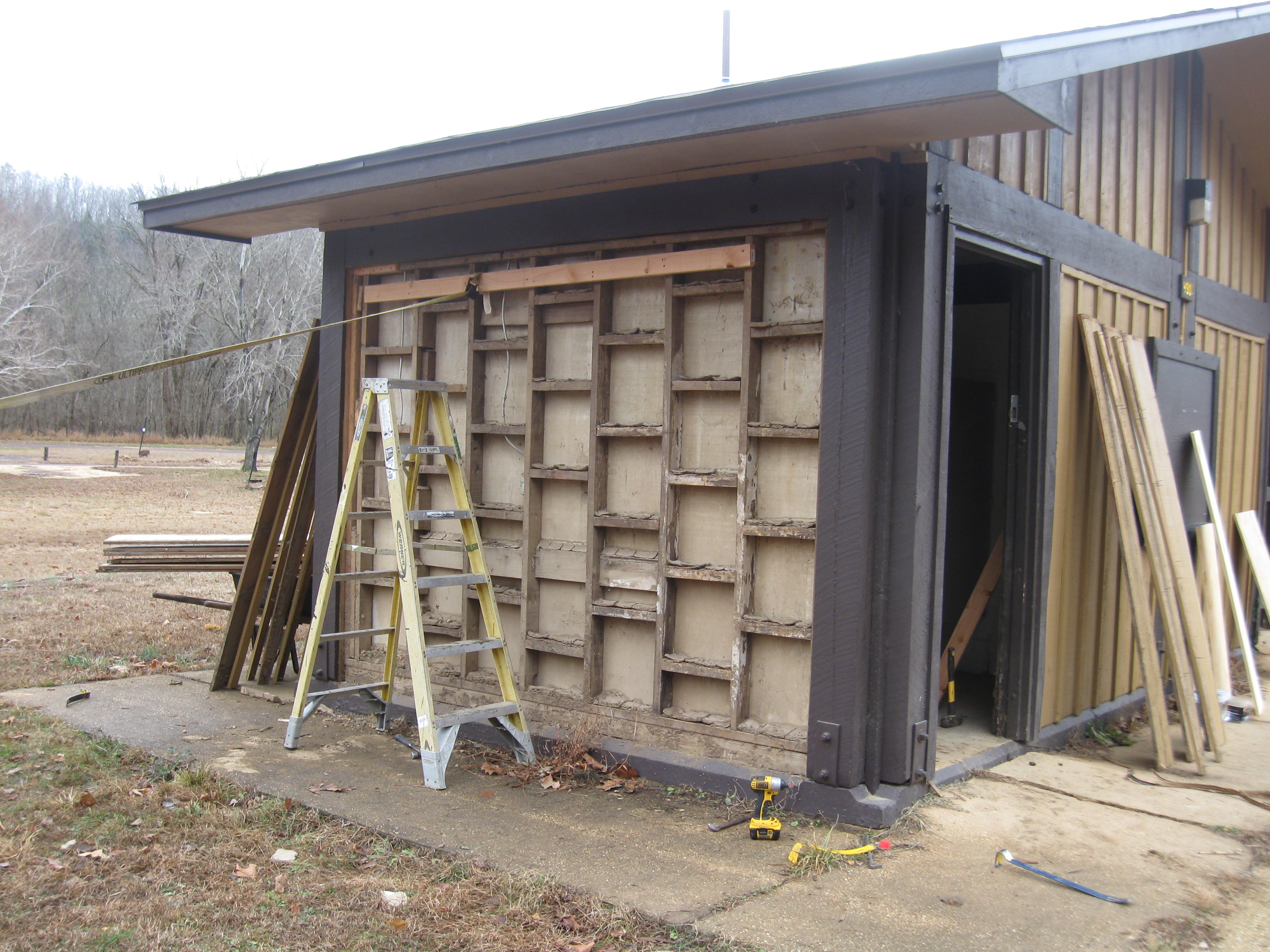 Repairs made to exterior of Big Spring Campground Bathroom