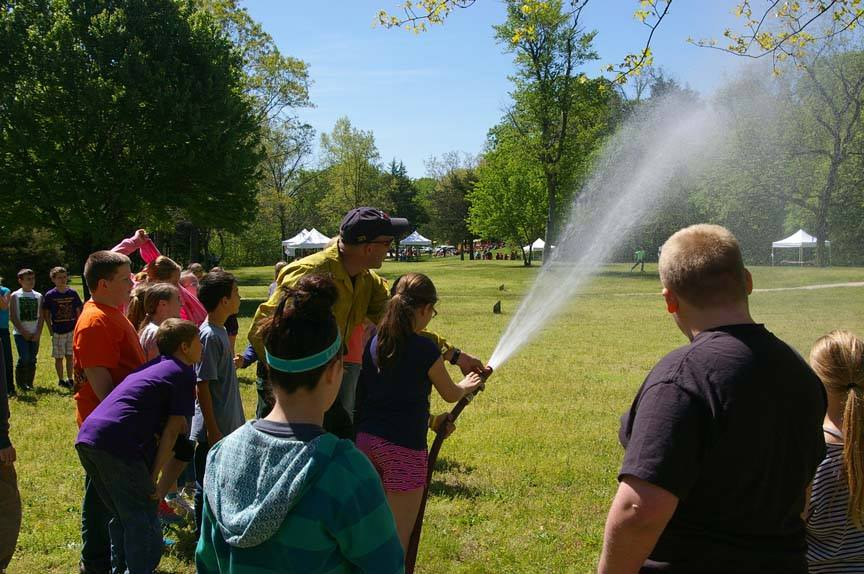 Firefighters at Junior Ranger Day