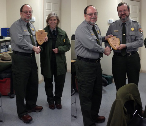 Park employees receiving award.