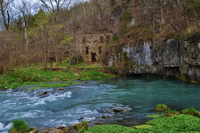 Welch Spring and hospital ruins