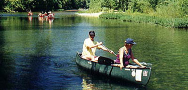 canoers on river