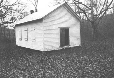 an old one room schoolhouse