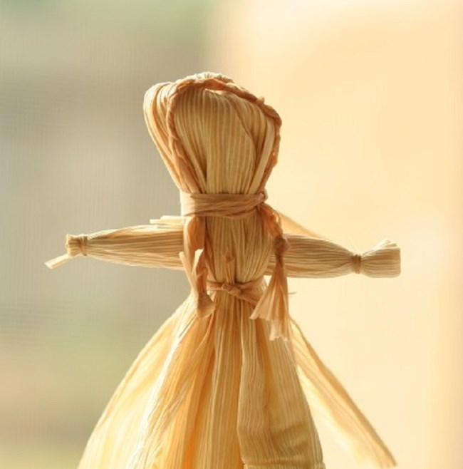 Traditional corn husk doll