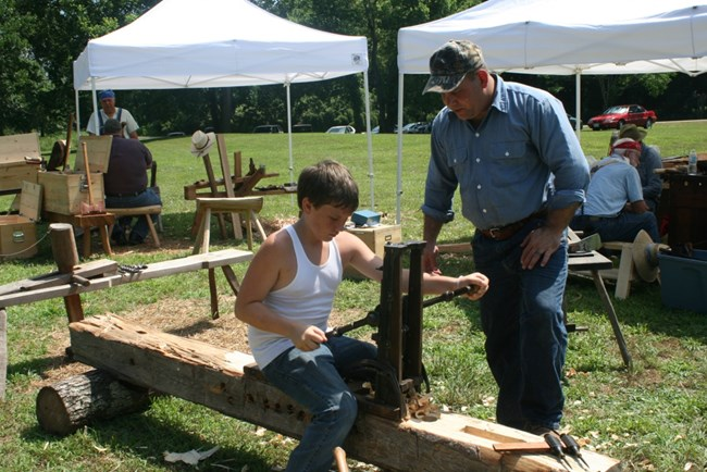A master woodworker passes on his skills
