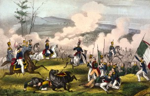 Historical print of the Battle of Palo Alto