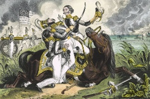 Print depicting death of Major Ringgold