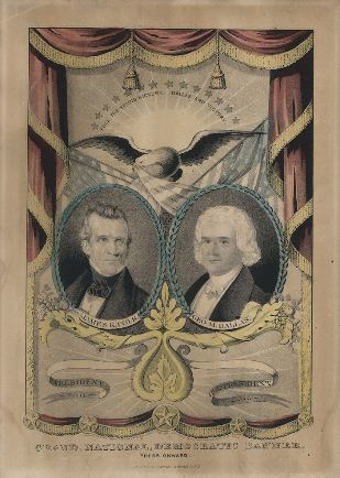 1844 presidential campaign poster