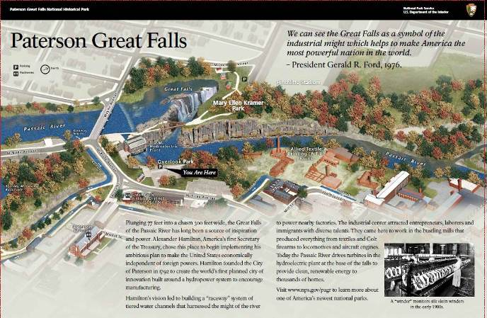 Paterson Great Falls NHP's first wayside exhibit