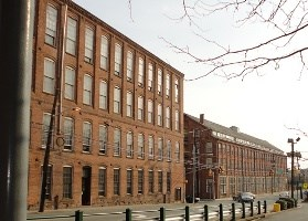 Two of Paterson's mills along Spruce Street