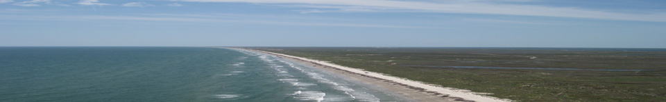 Aerial View of Padre Island National Seashore
