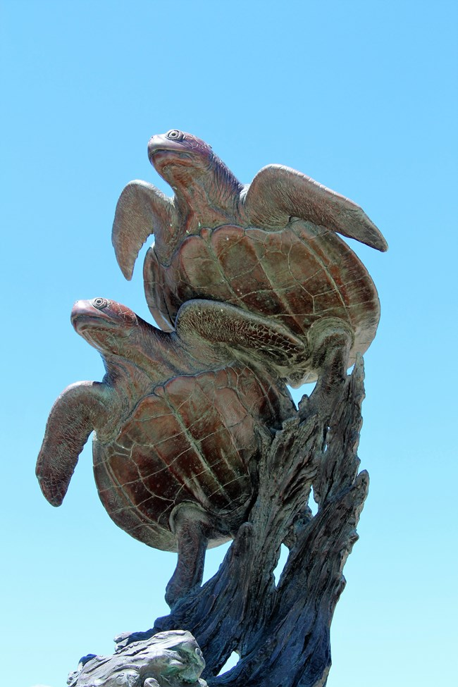 Kent Ullberg's Sea Turtle Sculpture, The Journey's End