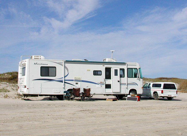 Recreational Vehicle (RV) campsite at South Beach