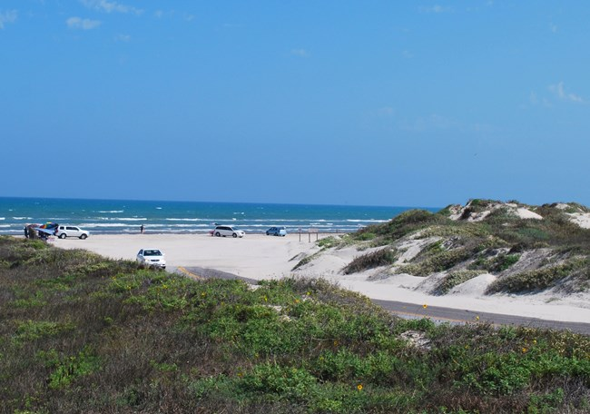 Entrance To South Beach Which Is Open Driving And Primitive Camping