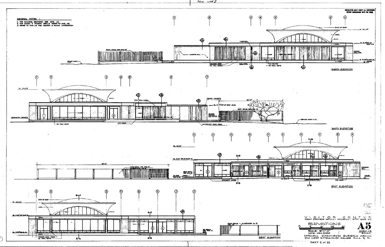 Elevation Plan And Cross Section : National park service mission visitor centers chapter