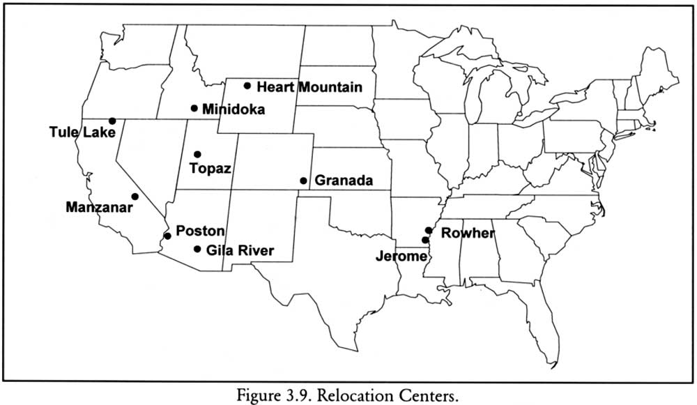 Topaz Utah Map.National Park Service Confinement And Ethnicity Chapter 3