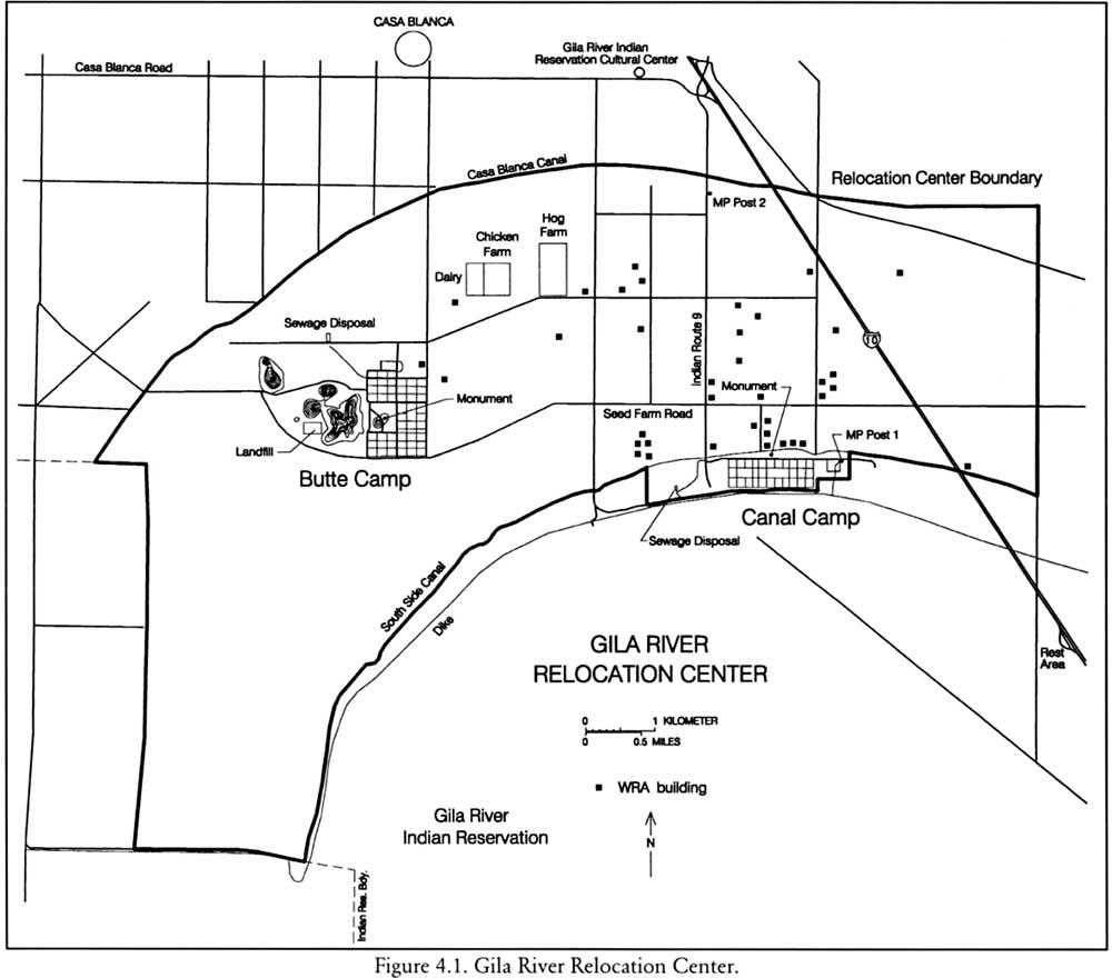 map of gila river relocation center