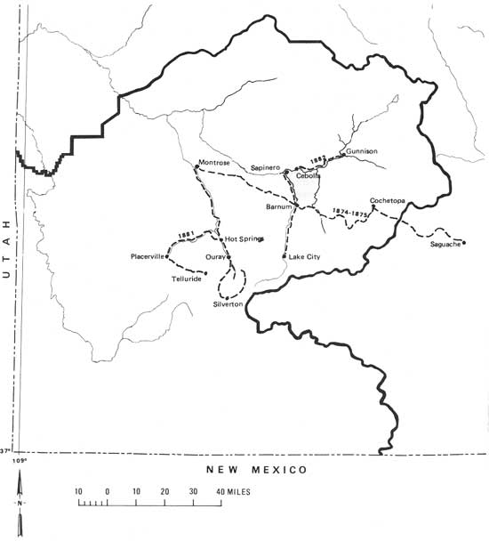 Frontier in Transition: A History of Southwestern Colorado (Table of ...