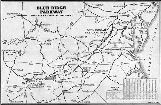 Blue Ridge Parkway: Guide Book (1949)