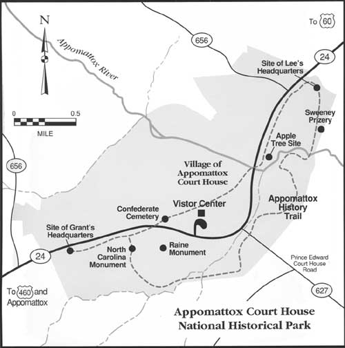 National Park Civil War Series The Campaign To Appomattox - Appomattox court house us map