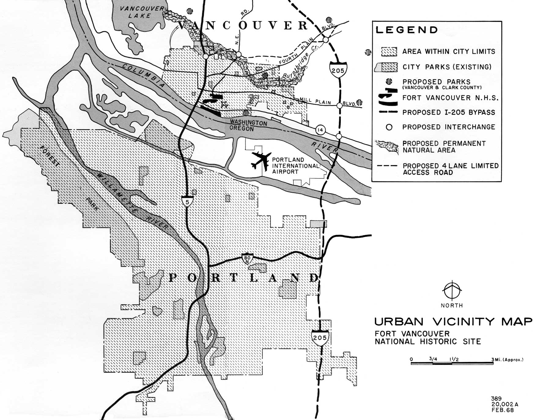 Fort Vancouver Nhs Master Plan The Region Bruno Wiring Diagram Urban Vicinity Map Click On Image For An Enlargement In A New Window