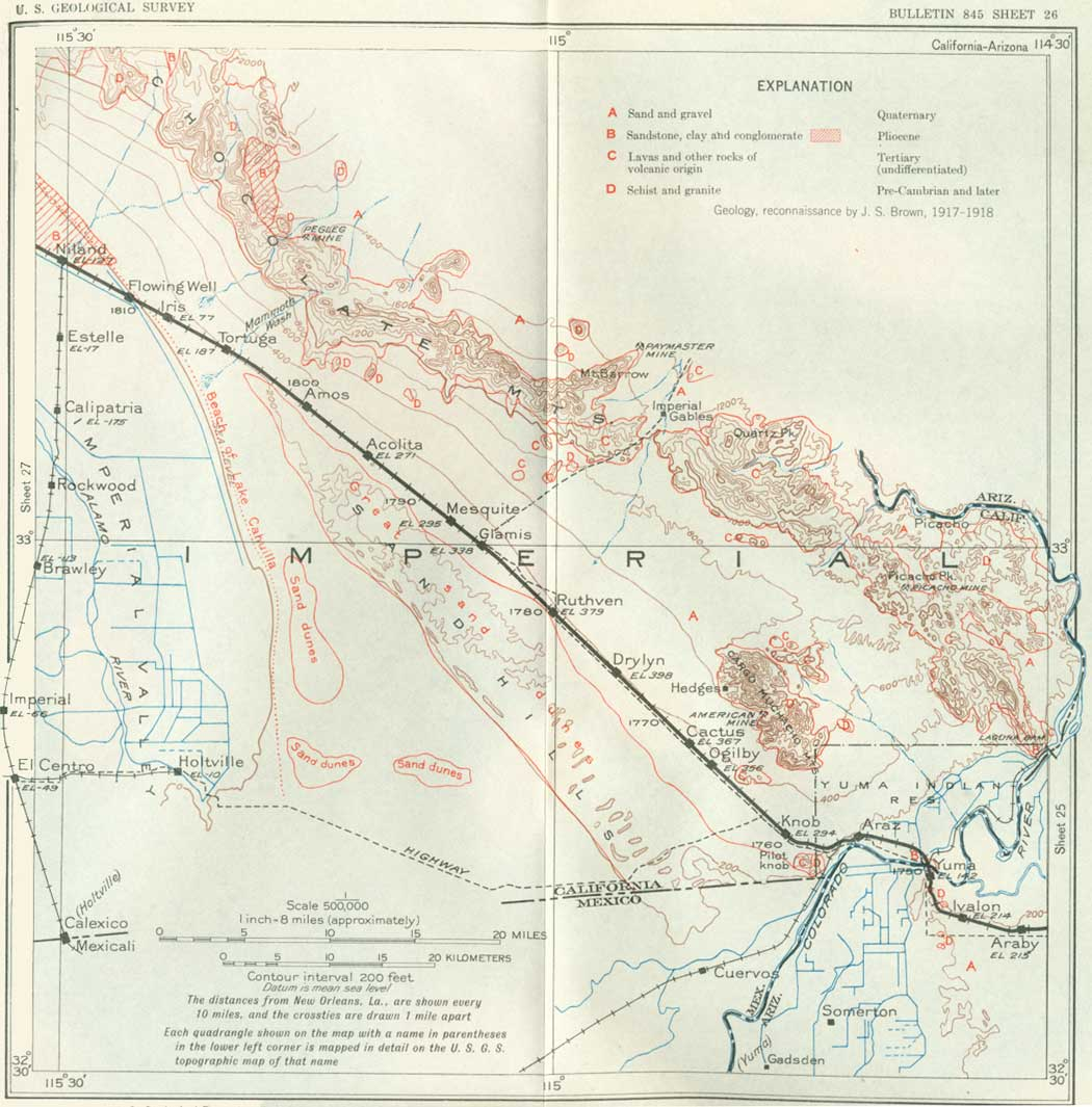 USGS: Geological Survey Bulletin 845 (Itinerary)