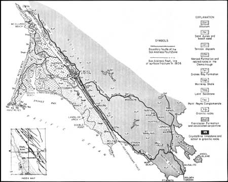 Index Map And Generalized Geologic Map 2 Graph Of Mean Daily Atmospheric Temperature 3 Type Section Of The Drakes Bay Formation